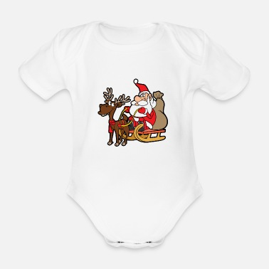 Nicholas Christmas - Organic Short-sleeved Baby Bodysuit