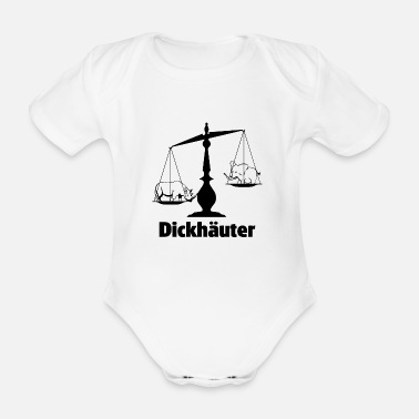 Heavyweight Heavyweight Justitia Libra Justice shirt - Organic Short-Sleeved Baby Bodysuit