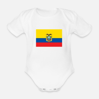 Ecuador National Flag of Ecuador - Organic Short-sleeved Baby Bodysuit
