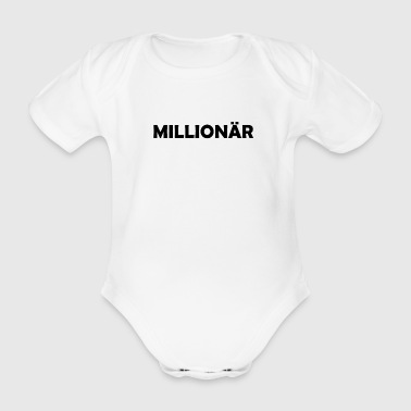 Millionaire million euros gift idea - Organic Short-sleeved Baby Bodysuit