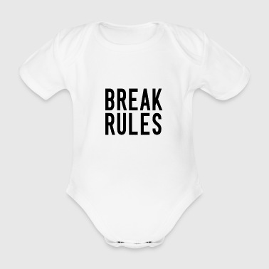 break rules black - Baby Bio-Kurzarm-Body