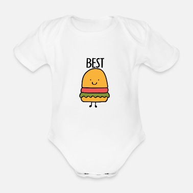 Best Best Friends, Best Friends, Partner Shirt, Burgers - Organic Short-Sleeved Baby Bodysuit