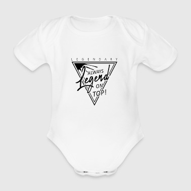 Legend - Organic Short-sleeved Baby Bodysuit