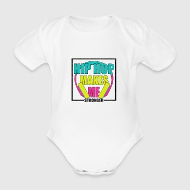 Hip hop rap 90s music 90s mc rapper - Organic Short-sleeved Baby Bodysuit