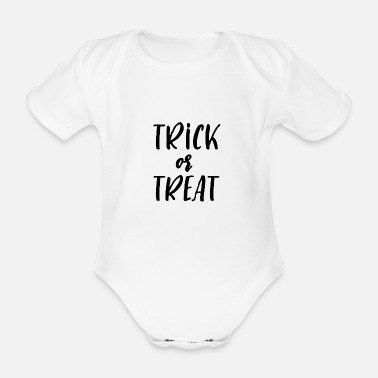 Trick Or Treat Trick or Treat Halloween Trick or Treat - Ekologisk kortärmad babybody
