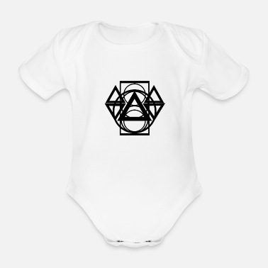 Abstract abstract - Organic Short-Sleeved Baby Bodysuit