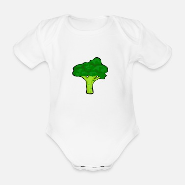 Cabbage broccoli broccoli sprouts cabbage garden vegetables - Organic Short-sleeved Baby Bodysuit