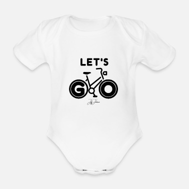 Ride Bike Bike ride bike - Organic Short-Sleeved Baby Bodysuit