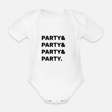 Party Party Party - Organic Short-Sleeved Baby Bodysuit