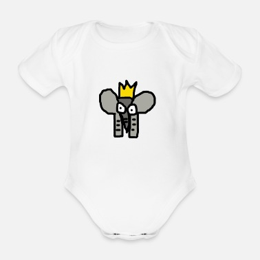 Elli elephant - Organic Short-Sleeved Baby Bodysuit