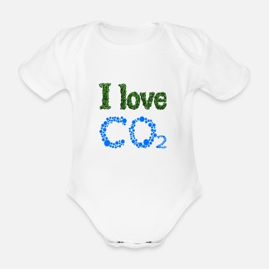Gegner I love CO2 - Baby Bio Kurzarmbody