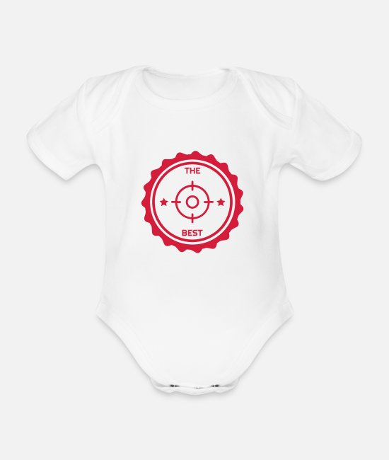 Nature Baby Bodysuits - Game Keeper Hunting Wildhüter Garde Chasse - Organic Short-Sleeved Baby Bodysuit white