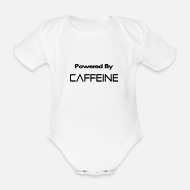 Countrymusic Powered by caffeine - Organic Short-Sleeved Baby Bodysuit