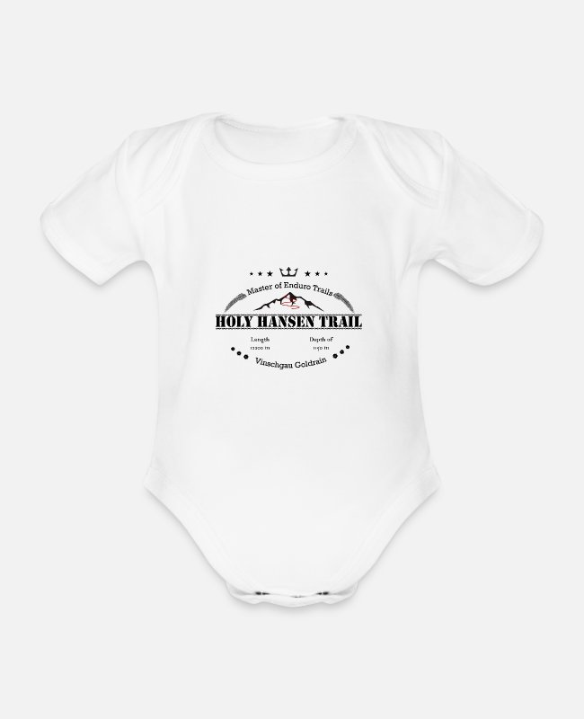 Freestyle Baby Bodys - Master of Enduro Trail Holy Hansen Trail Vinschgau - Baby Bio Kurzarmbody Weiß