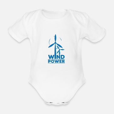 Global Wind power environmental protection gift environment - Organic Short-Sleeved Baby Bodysuit