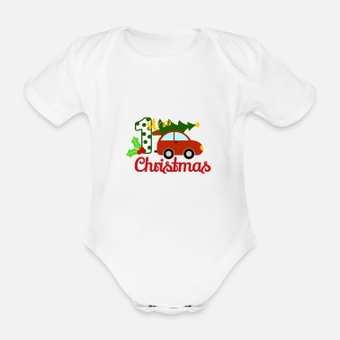 Christmas The first Christmas of the child - Organic Short-Sleeved Baby Bodysuit