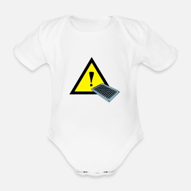 Labouratory warning symbol - Labor - 96 well plate - Organic Short-Sleeved Baby Bodysuit