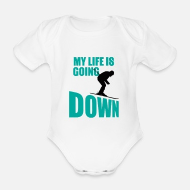 Witty Winter Sports - Ski - Après Ski - Gift - Organic Short-sleeved Baby Bodysuit
