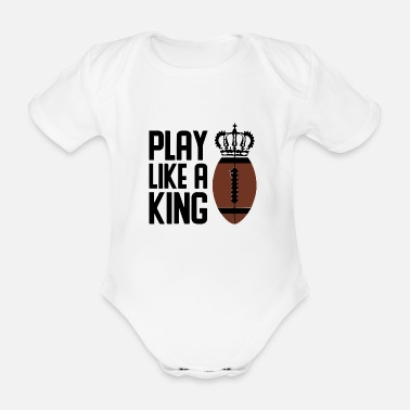 Touch American football rugby - Organic Short-Sleeved Baby Bodysuit