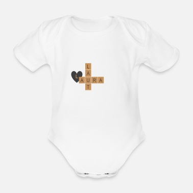 LAURA LOUD - Organic Short-Sleeved Baby Bodysuit
