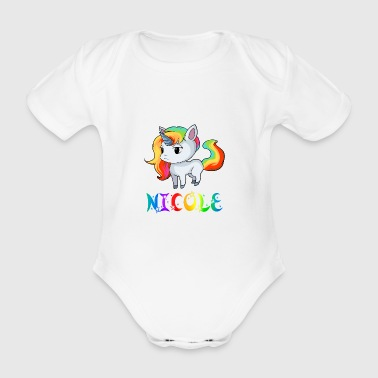 Nicole unicorn - Organic Short-sleeved Baby Bodysuit