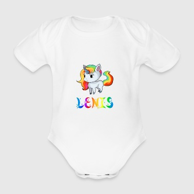 Unicorn Lenis - Organic Short-sleeved Baby Bodysuit