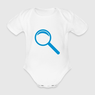 Magnifying glass - Organic Short-sleeved Baby Bodysuit