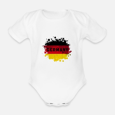 German Flag Germany / blob / gift / gift idea - Organic Short-sleeved Baby Bodysuit