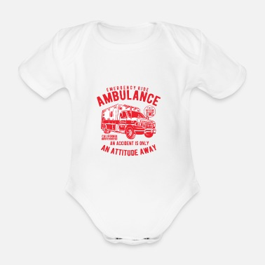 Vehicle Ambulance Vehicle - Organic Short-sleeved Baby Bodysuit