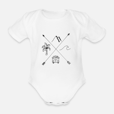 Rückseite Holiday - Organic Short-Sleeved Baby Bodysuit