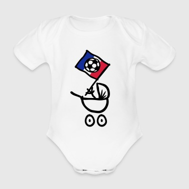 Sports France Bébé Football Fan - Organic Short-sleeved Baby Bodysuit