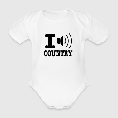 Country I music country / I love country - Ekologisk kortärmad babybody