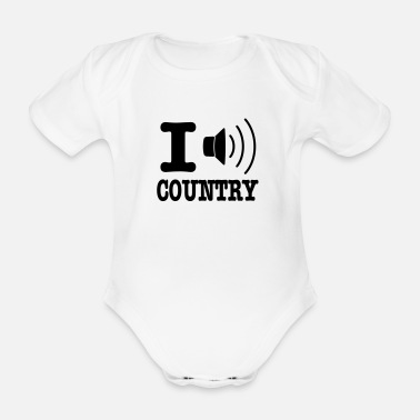 Country I music country / I love country - Økologisk kortærmet babybody