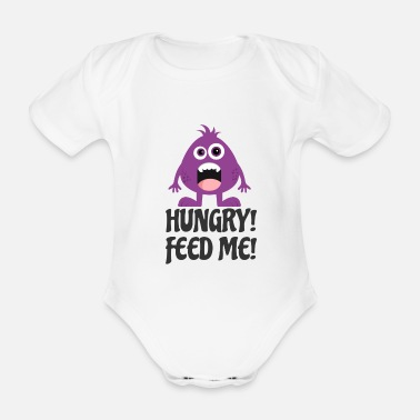 Hunger hunger - Organic Short-Sleeved Baby Bodysuit
