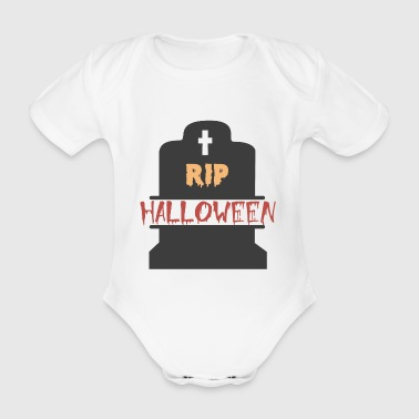 RIP Happy Halloween Trick or Treat Geschenk - Baby Bio-Kurzarm-Body