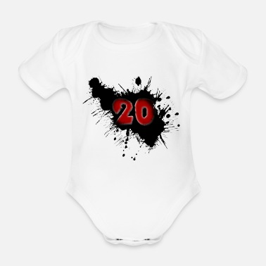 Date Of Birth Date of birth 20 years - Organic Short-Sleeved Baby Bodysuit