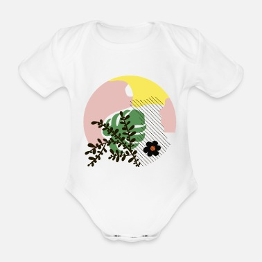 Abstract Abstract shapes - Organic Short-Sleeved Baby Bodysuit