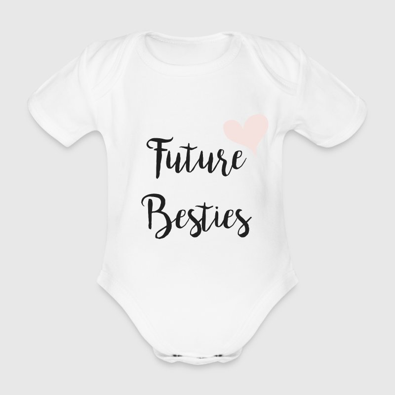 future besties - Organic Short-sleeved Baby Bodysuit