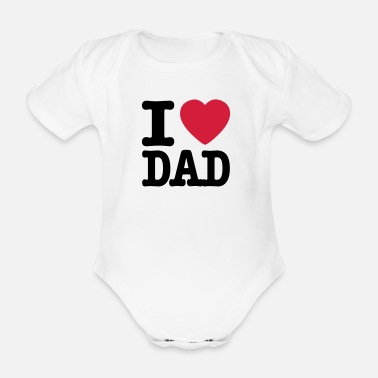 Bursdag i love dad EN - Organic Short-sleeved Baby Bodysuit