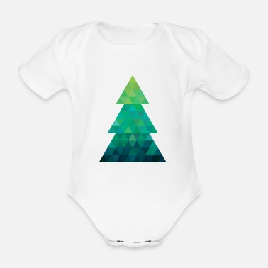Xmastree Modern style Christmas tree XMAS - Organic Short-Sleeved Baby Bodysuit