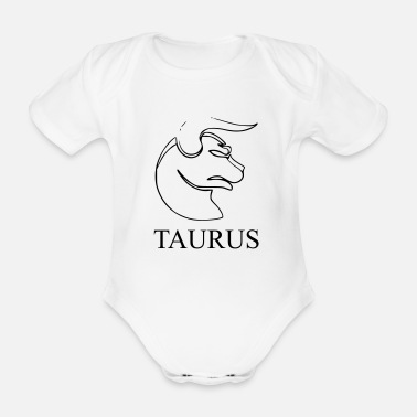 20th Birthday Taurus taurus zodiac horoscope birthday - Organic Short-sleeved Baby Bodysuit