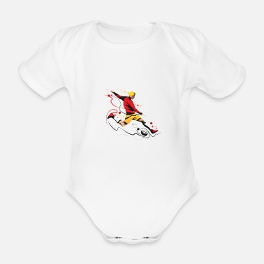 Kicker Kicker! - Organic Short-sleeved Baby Bodysuit