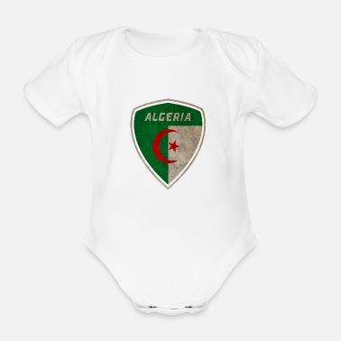 46311c62453e7 Algérie blason vintage   cadeau Alger - Body Bébé bio manches courtes