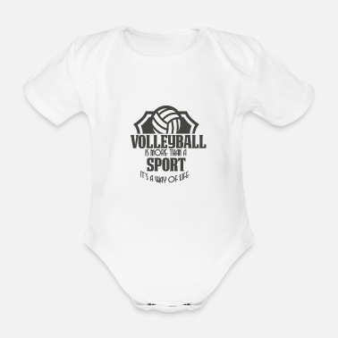 volleyball - Organic Short-Sleeved Baby Bodysuit