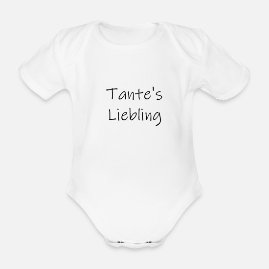 Darling Baby Clothes - Auntie's darling - Organic Short-Sleeved Baby Bodysuit white