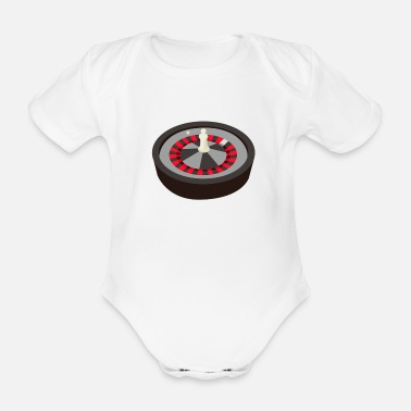 Skat Roulette Win Gambling Ball Gift - Organic Short-sleeved Baby Bodysuit