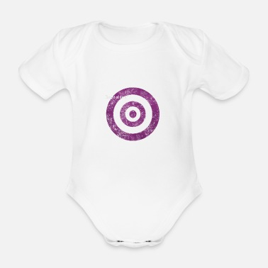 target_of_desire_violet - Organic Short-Sleeved Baby Bodysuit