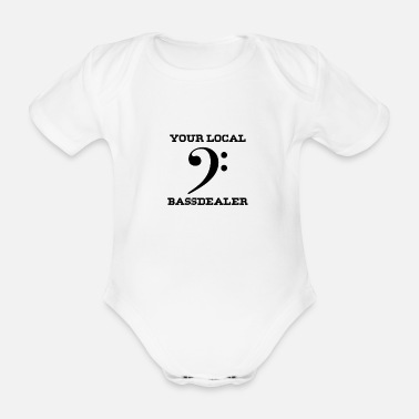 Basshead Your local bass dealer - Organic Short-Sleeved Baby Bodysuit
