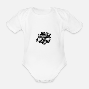 Rap Old school - Organic Short-Sleeved Baby Bodysuit
