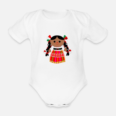 Mexican doll - Organic Short-Sleeved Baby Bodysuit